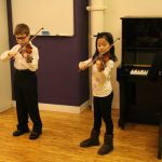 Reflections from the Performers:  Christopher and Margaret Book 1 violin recital